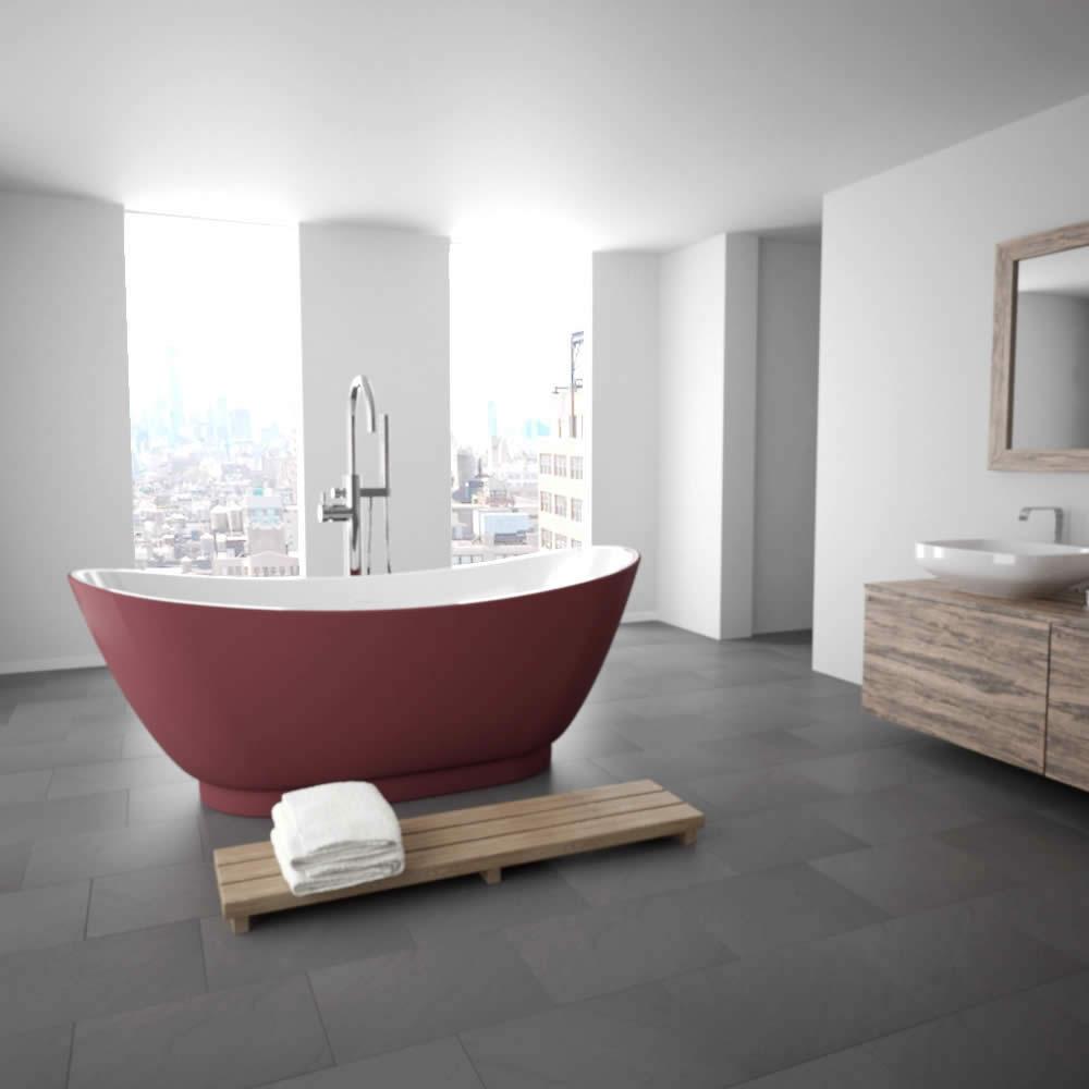 Freistehende Badewanne Modern. Freistehende Badewannen In Modernem Design  Sind In Außergewöhnlichen Farben Und Formen Erhältlich. Bereichern Sie Ihr  Bad ...