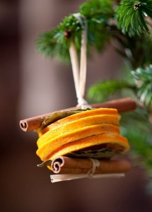 Weihnachtsbaumschmuck aus Orange Zimt natürliches Ornament