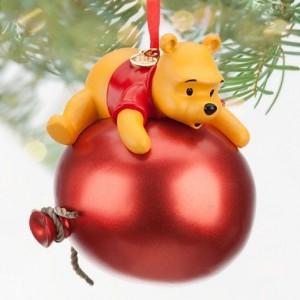 Weihnachtsbaumkugel Winnie Pooh roter Ballon