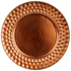 Kupferteller Dekoration Platzteller
