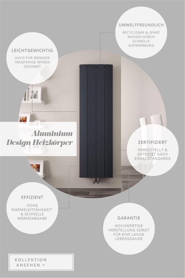Infografik Aluminium Heizkörper und deren Vorteile