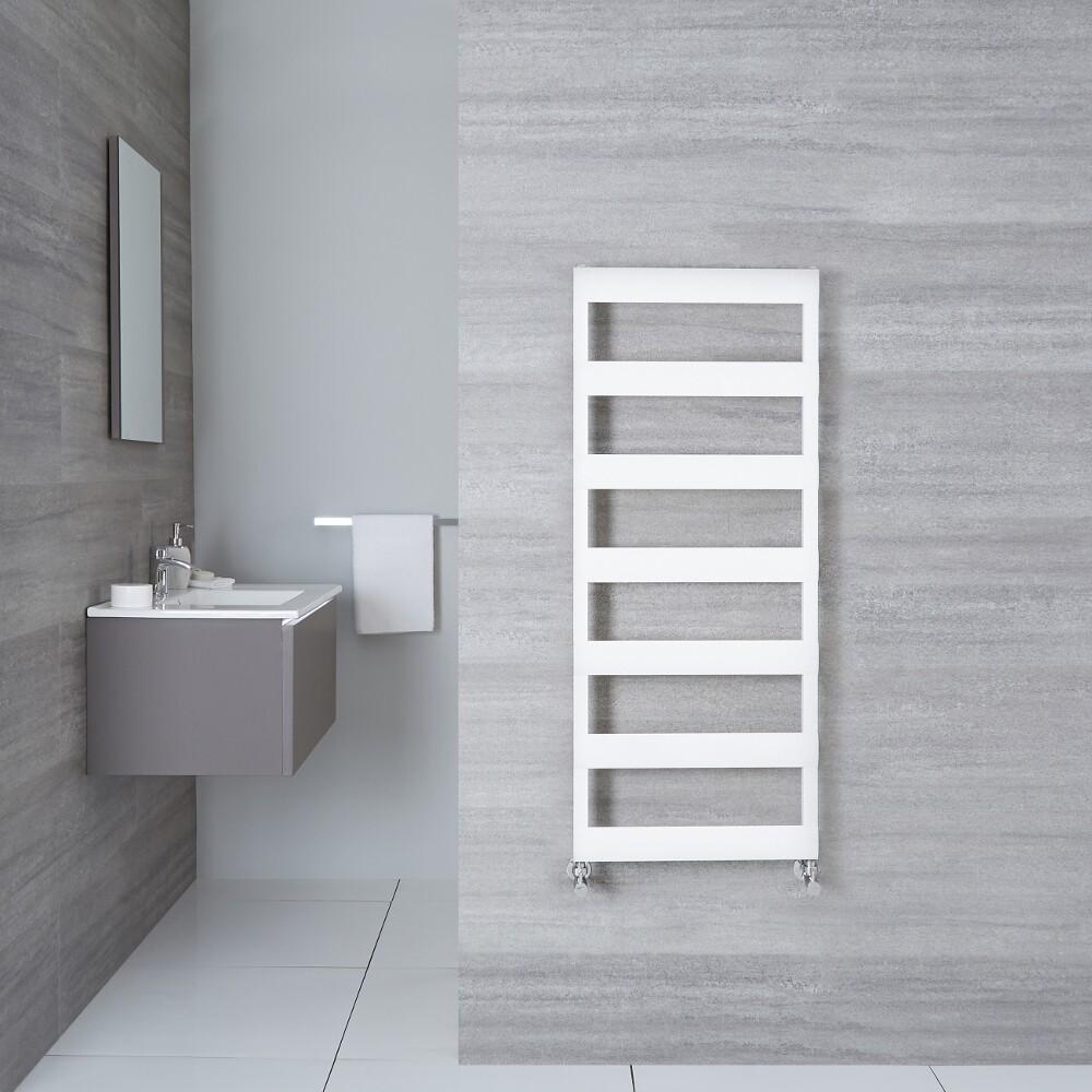 Badezimmerheizungen Aluminium Design Badheizkörper Weiß 1190mm x 500mm 531W – Gradus