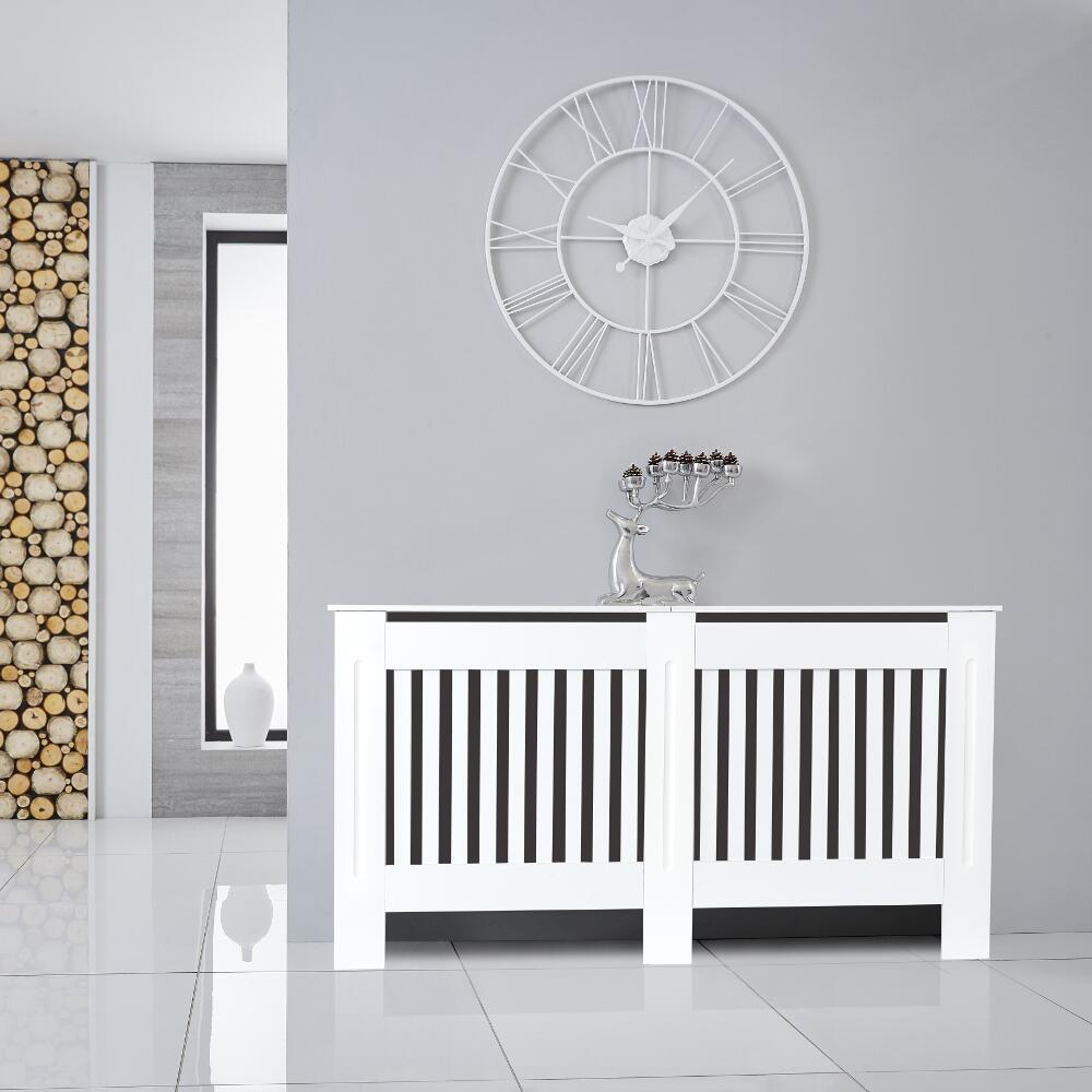 Badezimmerheizungen Heizkörperverkleidung Holz Horizontal Weiß 815mm x 1520mm - Sutton