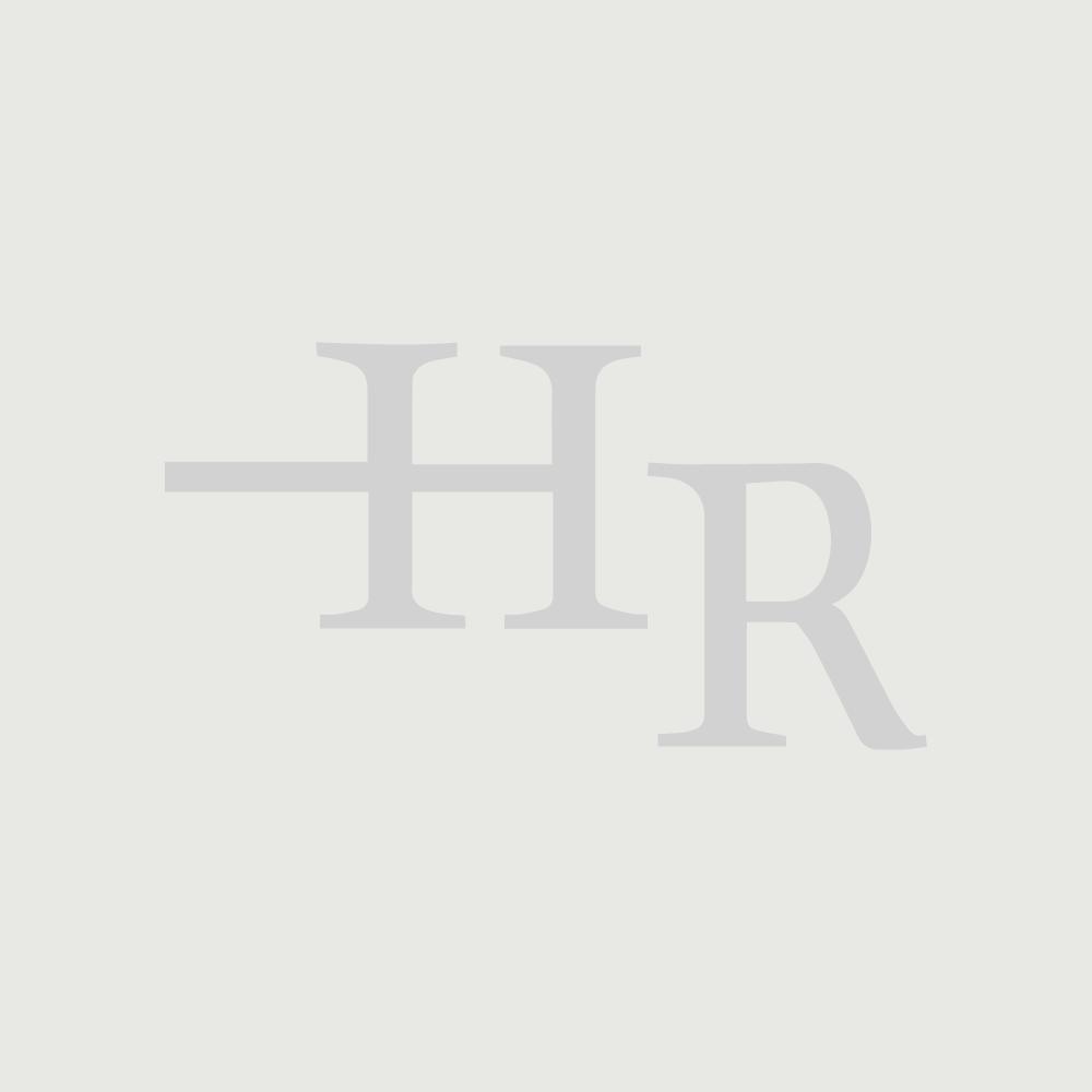 Duschen Walk-In Duschabtrennung, Höhe 1950mm - wählbare Breite  - matte Bronze - Augusta