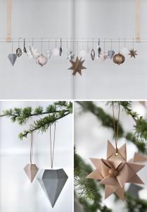 Weihnachtsbaumschmuck aus Ppaier Diamanten aus Papier Weihnachtsstern