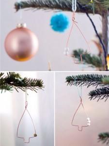 Weihnachtsbaumschmuck aus Draht Kupfer