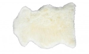 weißes Lammfell Lammfellteppich