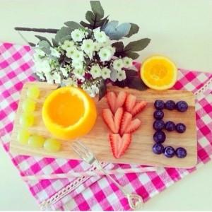 Frühstück Früchte Liebe
