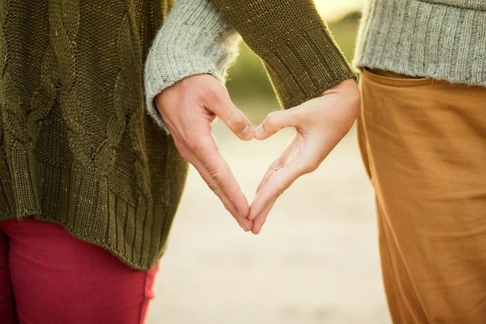 Hände Herz Paar